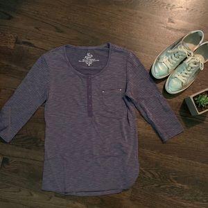 Kuhl 3/4 Sleeve Purple Shirt